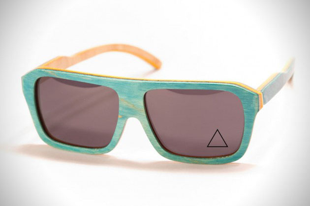 62aa304593 Okulary z drewna deskorolki